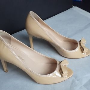 Enzo Angiolini peep toe patent leather heels
